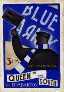 Queens Trust poster advertising Queens game against Dumbarton.